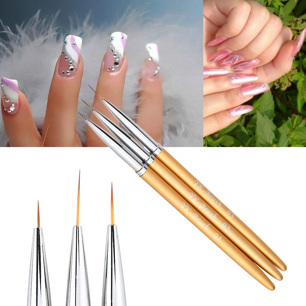 Wholesale- Nail Art Lines Painting Pen Brush Set Gel Polish Tips ...