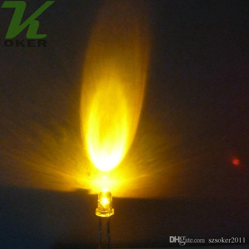 3mm 라운드 물 클리어 LED 조명 램프 방출 다이오드 화이트 레드 블루 그린 노란색 울트라 밝은 비드 플러그인 DIY 키트 연습 광각