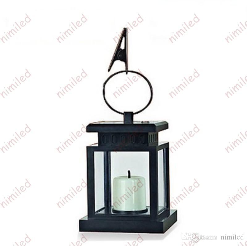 Nimi1045 Lámpara solar alimentada de la vendimia Linterna colgante a prueba de agua Luces con velas LED Con abrazadera Sombrilla de playa Árbol Jardín Jardín Iluminación del césped