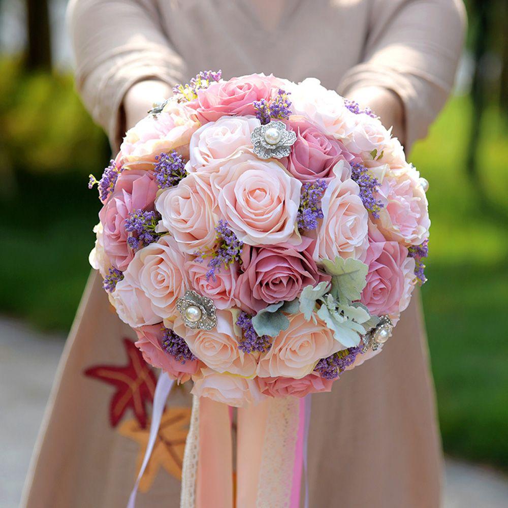 2017 Elegant Silk Wedding Bouquet Artificial Home Party Deco Flowers