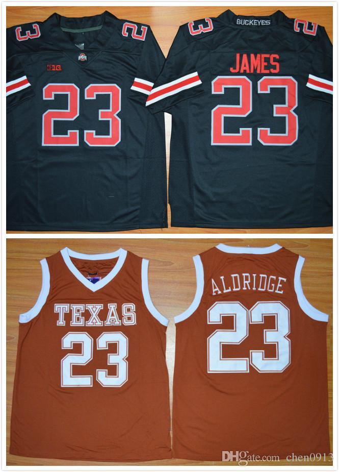 d6139668 ... authentic 2018 2016 texas longhorns jersey 23 lamarcus aldridge jersey  burnt orange stitched 23 lebron james