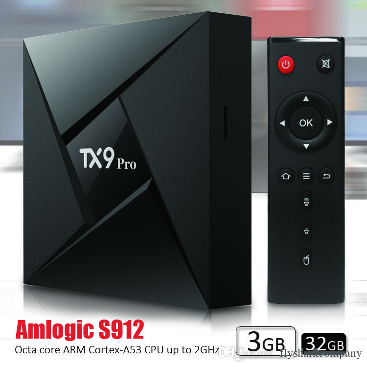 Android 7 1 IPTV BOX 4K Smart TV BOX TX9 pro 3GB 32GB 2 4G 5G WiFi BT4 1  S912 Android Boxes Media Player