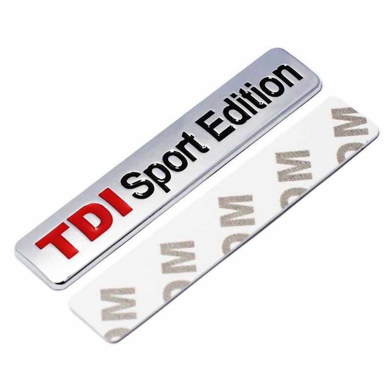 Металл Красный TDI Sport Edition логотип Турбо автомобиль письмо наклейка эмблема хром значок наклейки для VW POLO GOLF CC TT JETTA GTI TOUAREG