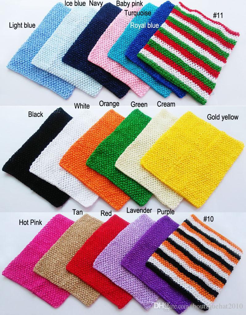 10x12 pouces Grand tube Crochet top tutu top crochet pettiskirt tutu top couleur mélangée par livraison gratuite