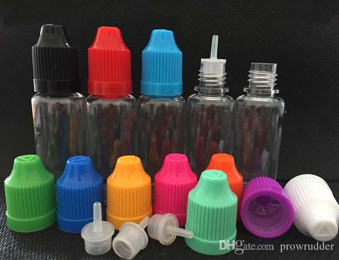 Factory price 20ml Dropper Bottle E Liquid Bottle PET empty Plastic Bottle for eGo EVOD E Cigarette Starter Kits