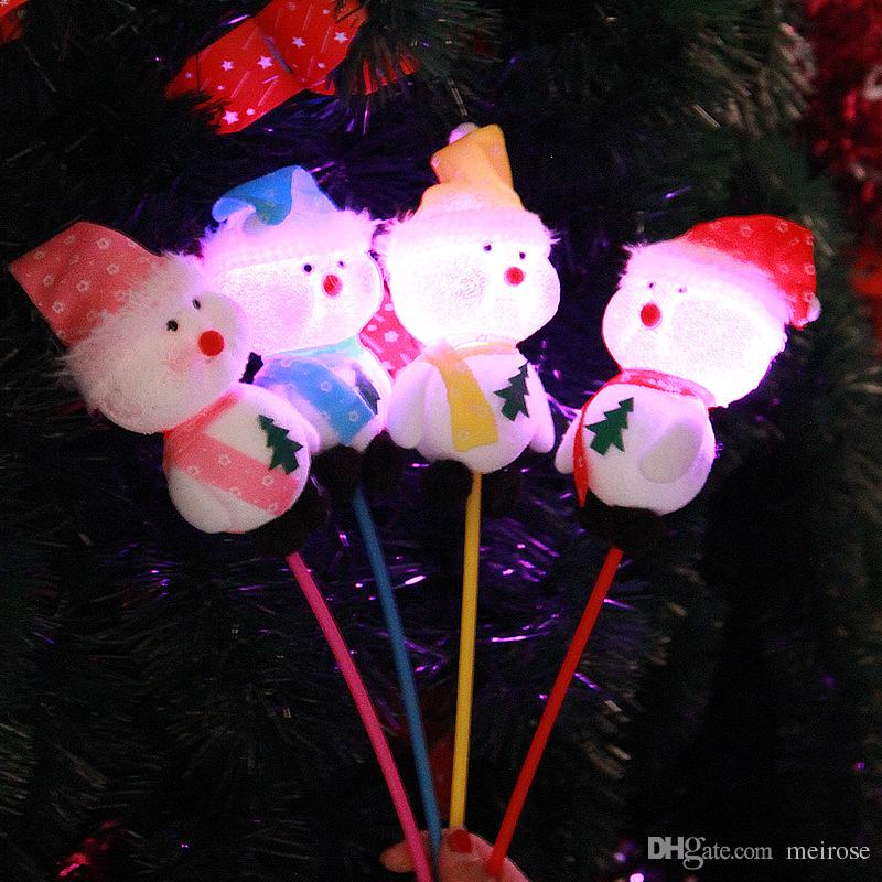 Christmas Flash light Ornaments Foam And Pvc Snowman Xmas Decoration Glow Light Snowman For Christmas Party Product Code : 95 -1025