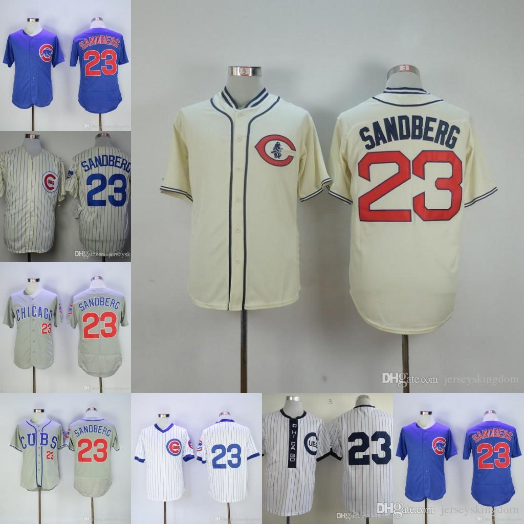 buy popular 9162d 5e9ab chicago cubs 23 ryne sandberg 1988 white pullover throwback ...