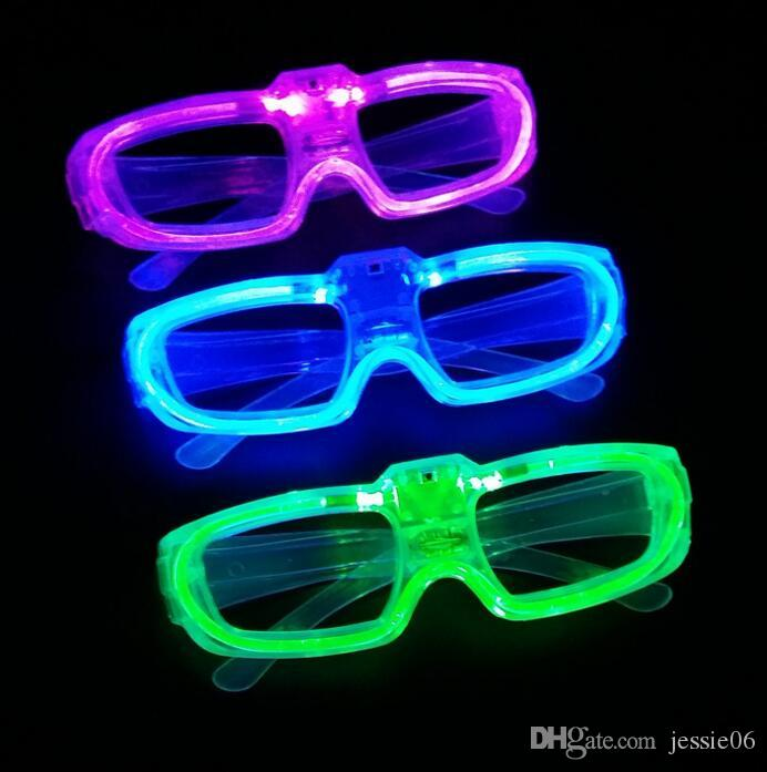 party Led shutter glow cold light glasses light up shades flash rave luminous glasses Christmas favors cheer atmosphere props festive supply