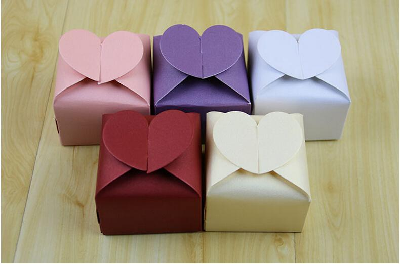 European Elegant Pearly Lustre Heart Shape Wedding Favor Box For Gifts Event Party Supplies Packaging Wholesale Glass Favors Greek