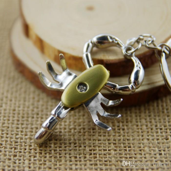 Escorpión modelo llavero llavero llavero de alta calidad sleutelhanger llaveros hombre creativo chaveiro portachiavi souvenir