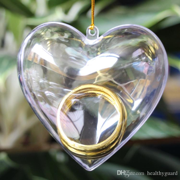 new arrival heart shaped clear plastic candy jewelry box small part