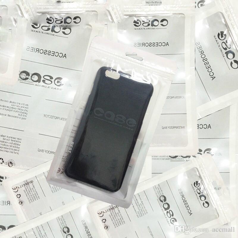 Cavo al dettaglio autosigillante Zipper telefono mobile auricolare Caso accessori USB opp bag PP PVC Poly plastica Sacchetti imballaggio