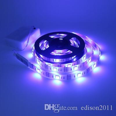 Edison2011 Hot 5050 30leds / m tira llevada de la batería Tira de la caja de la luz de la luz alto brillo 0.5-2M Cinta TV flexible iluminación de la Navidad casera