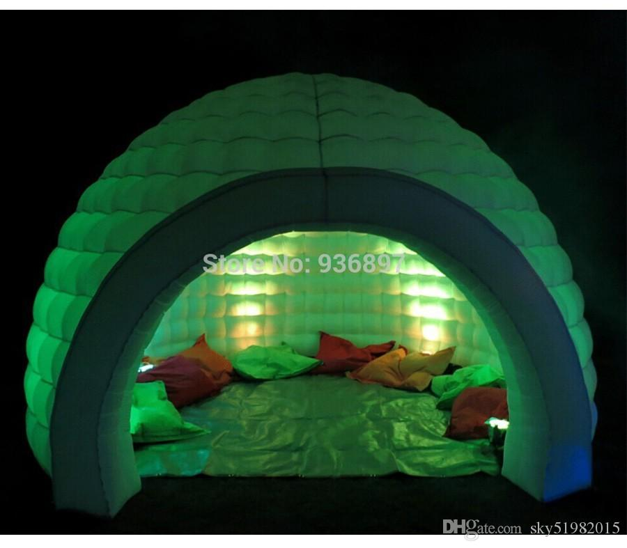 Party Inflatable Igloo Tent Dome Tent with Color Changing LED Light Inflatable Igloo Tent Online with $1095.48/Piece on Sky51982015u0027s Store | DHgate.com & Party Inflatable Igloo Tent Dome Tent with Color Changing LED ...