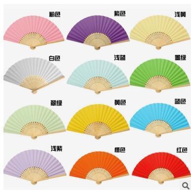 hot selling mix colour bridal fans hollow bamboo handle wedding accessories Fans & Parasols