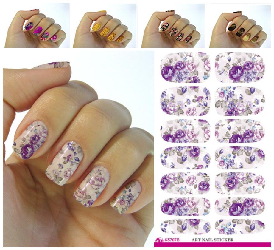 Wholesale Fashion Nails Art Sticker Colored Bright Crystal Design ...