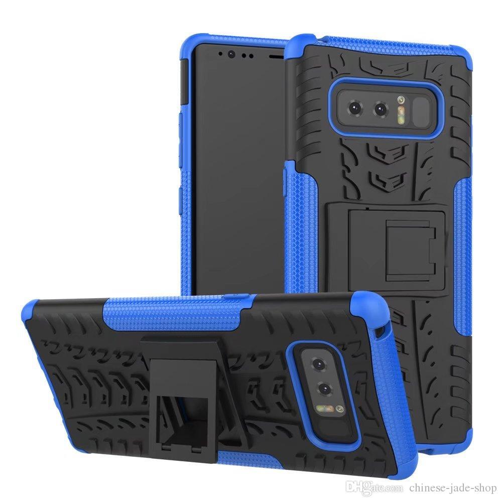 Hybride Kickstand Impact Rugged Heavy Duty TPU + PC Case Cover voor Samsung Galaxy Note 9 J3 J4 J6 J8 J7 2018 50 stks / partij