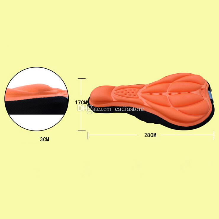 Bicycle Bike 3D Silicone Gel Pad Seat Saddle Cover Soft Cushion F00293 CADR