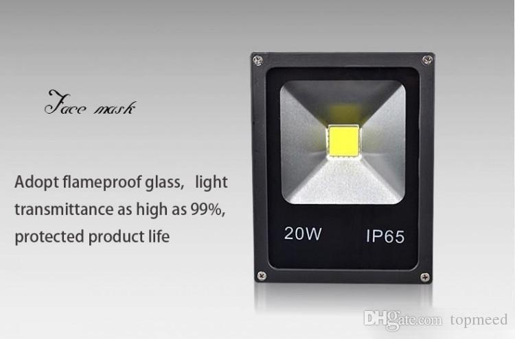 LED 조명등 DHL IP65 방수 50W 야외 프로젝트 램프 LED 투광 조명 COB 칩 85-265V 슈퍼 밝은 홍수 조명 666 6 램프