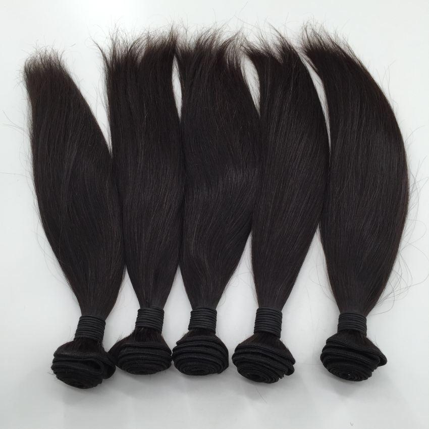 Tessuto brasiliano peruviano malese brasiliano non trattato dei capelli 8-30inch colore naturale Staight estensione della trama dei capelli umani di 100%