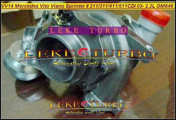 - VF40A132 Mercedes-PKW Sprinter II 311CDI 411CDI 511CDI 2003-09 2.2L OM646 DE22LA VV14 A6460960199 turbocharger (2)