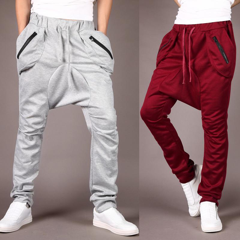 0b3170176a Compre Pantalones Harem Deportivos De Los Hombres Del Estilo Caliente Otoño  Pantalones Masculinos A  14.21 Del Apparelbase
