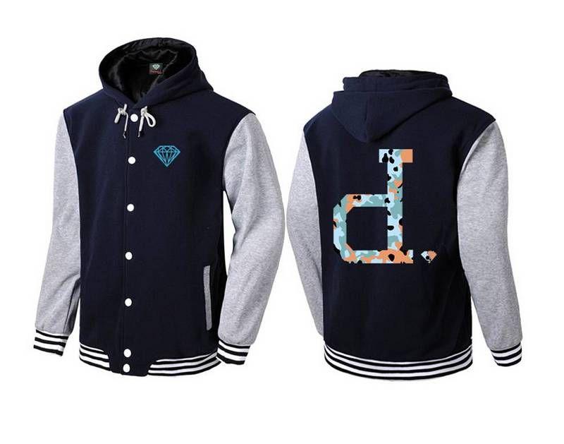 s-5xl 5582 New Stitching Leder Ärmel Hoodies Herren Diamond Supply Brand Sweatshirt mit Luxus Sweatshirt Mantel