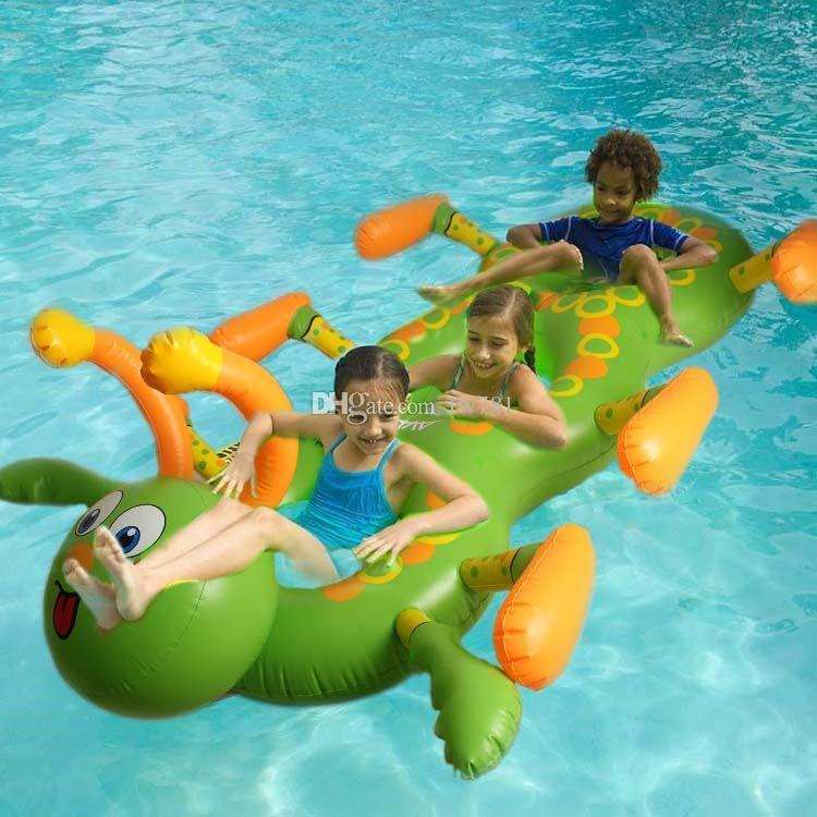 2017 New 180cm Carpenter Worm Inflatable Seat On Pool Toy Float Inflatable  Unicorn Pool Swim Ring Holiday Water Fun Pool Toys Free Shiping From Fw781,  ...