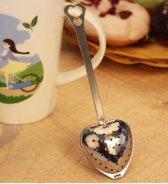 Stainless steel Heart Shape Tea Infuser Strainer Filter Spoon Wedding Party Gift Favor , tea strainer