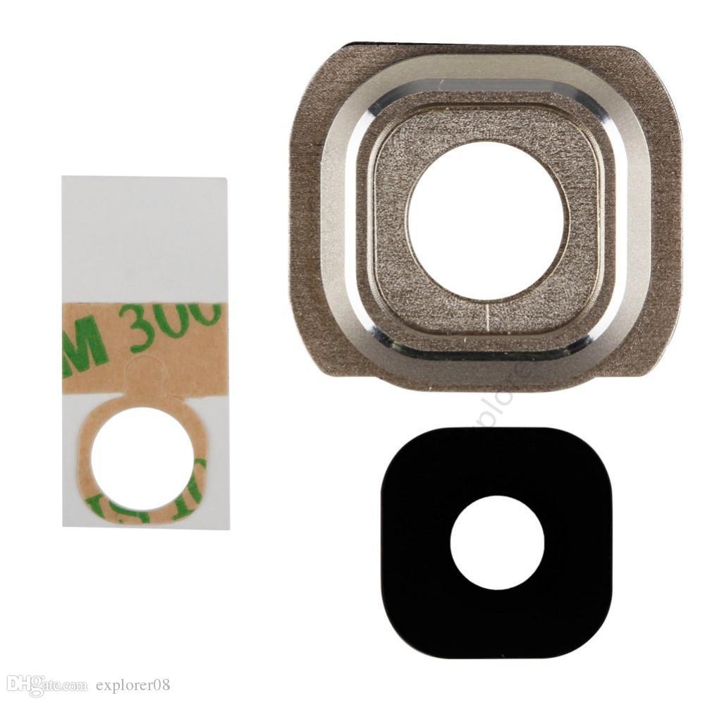 OEM غطاء الإطار عدسة الكاميرا + لاصق استبدال قطع غيار لسامسونج غالاكسي ملاحظة 2 3 4 5 S4 S5 S6 حافة بلس