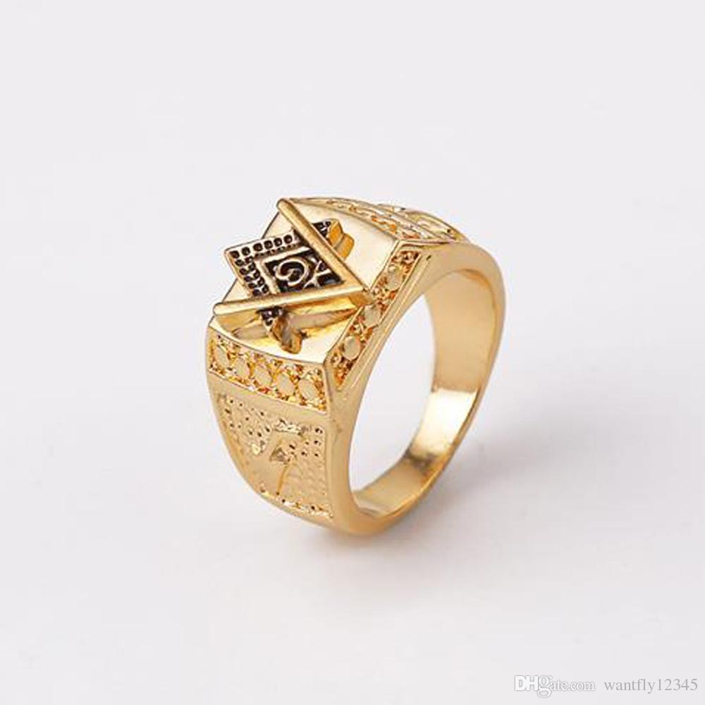Wholesale Upgrade 7-12 Size Design Gold Plated Men Rings Bague ...