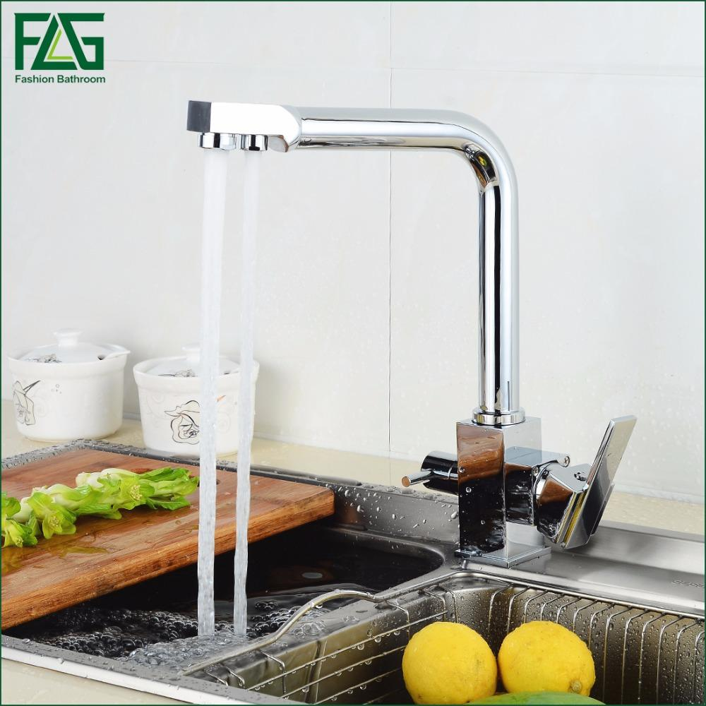 2018 Wholesale Flg Square Filter Faucets Kitchen 3 Way Water Tap ...