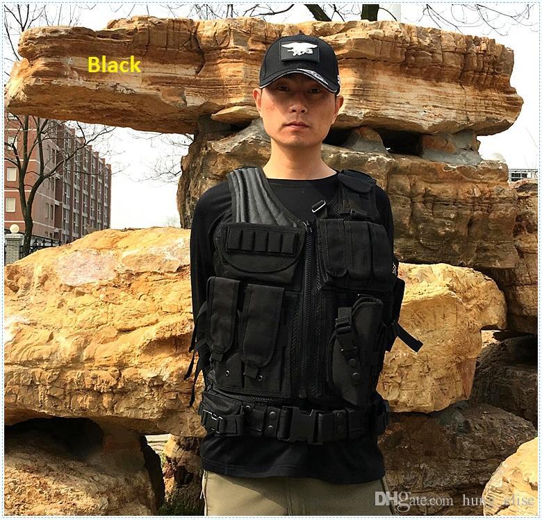 Novo Exército Preto CS Tático Colete de Treinamento de Treinamento Ao Ar Livre de Proteção paintball camuflagem molle Tático Colete 3 cores