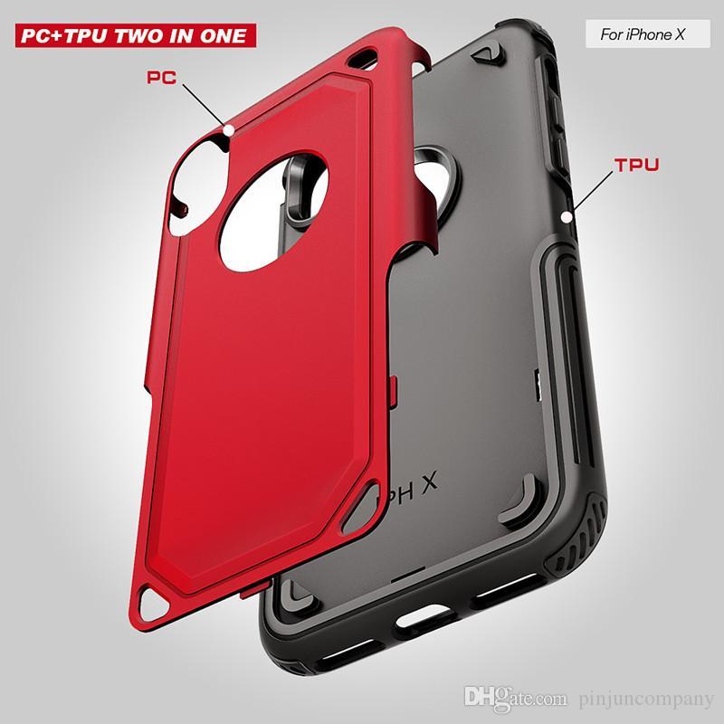 For iphone x Hybrid Armor case For Samsung galaxy J7 pro j5 pro j3 pro PC+TPU phone protection Hybrid Armor Kickstand Case