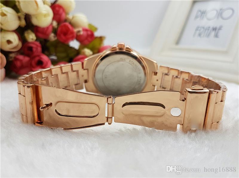 Lüks Saatler Moda Kadınlar İzle Paslanmaz Çelik Lüks Lady Büyük Kol Saati Ünlü Yüksek Kalite Saatler Toptan Ücretsiz Kargo