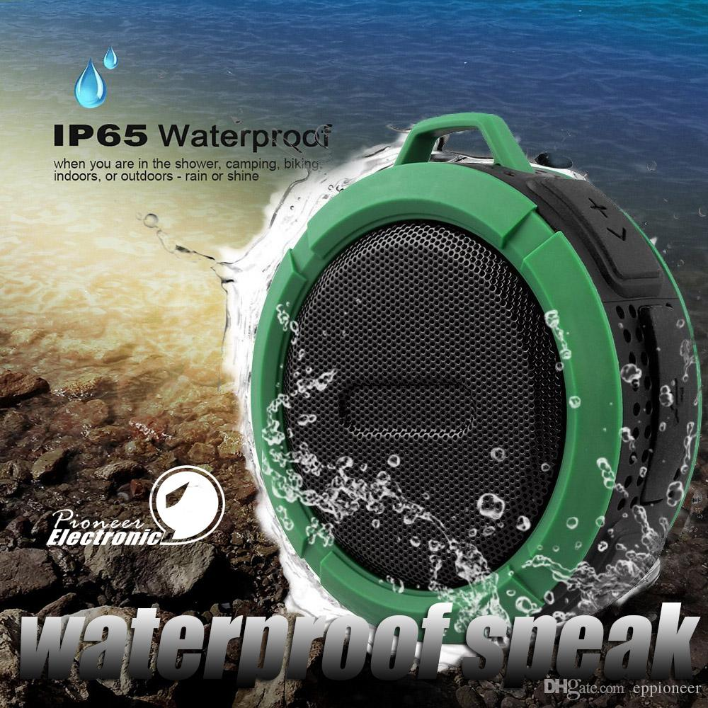 C6 IPX7 Outdoor Sports Shower Portable Waterproof Wireless Bluetooth Speaker Suction Cup Handsfree Voice Box For iphone 6 iPad PC Phone