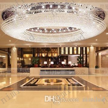 nimi1014 Diamètre 60-100 cm Département des ventes Hall d'entrée Lustre en cristal Villa LED Salon Lumières Club Grands Projets Pendentif Lampe
