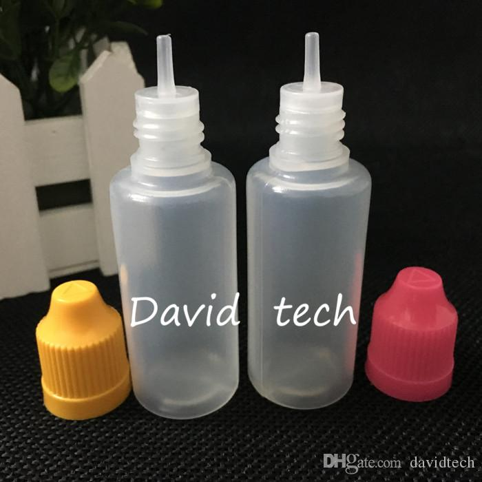 E 액체 병 PE E-주스 니들 팁 플라스틱 스포이드 병 20ml의 아이 증거 모자 빈 E-액체 기름 병