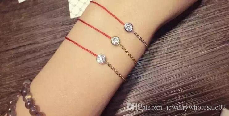 2016 Hot Chinese Style Jewelry Thin Red Thread String Rope Cute Bear Bracelets bangles for women With Genuine Austrian Crystal Bear Jewelry
