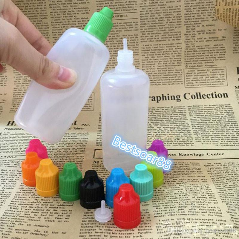 E Cig Plastic Dropper Bottles Wholesale With Childproof Cap And Long Thin Tip Empty Bottle 5ml 10ml 15ml 20ml 30ml 50ml Drop Bottles
