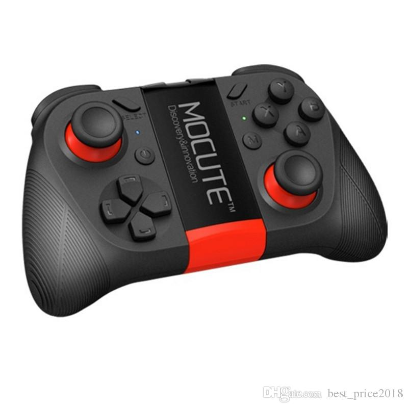Free DHL Original MOCUTE 050 Wireless Bluetooth Gamepad PC Game Controller for Smartphone TV Box With Built-in Foldalbe Holder Joystick