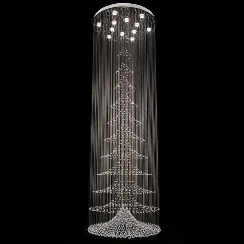 Compre spiral crystal chandelier light fixture long crystal lmpara compre spiral crystal chandelier light fixture long crystal lmpara de escalera escalera montada a la luz montaje de la escalera para la villa lustres a aloadofball Choice Image