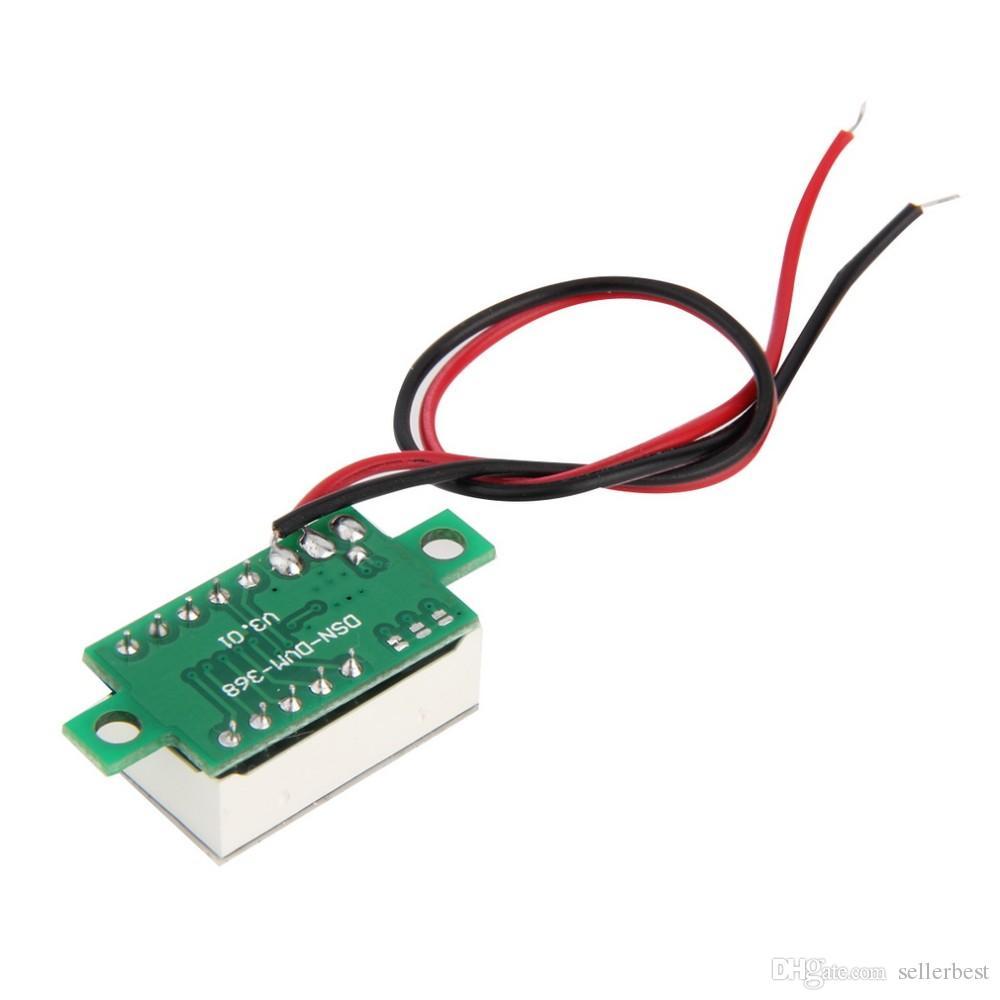 0,36 дюйма DC 4,5 В-30 В Мини Цифровой вольтметр Красный светодиод Панель Приборы для измерения напряжения 3-цифровая настройка Вольтметр Автоматическая настройка 2 провода