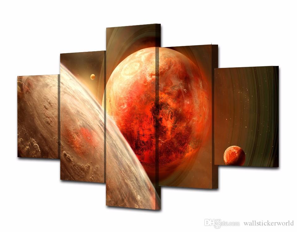 Framed Printed Planet of the universe Painting Canvas Print room decor print poster picture canvas /NY-5765