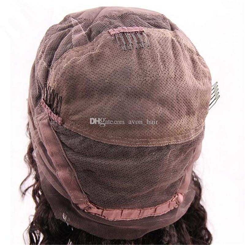 Parrucche brasiliane di pizzo capelli umani Parrucche piene di pizzo Glueless parrucche piene con base in seta 4x4 con capelli bambini donne nere