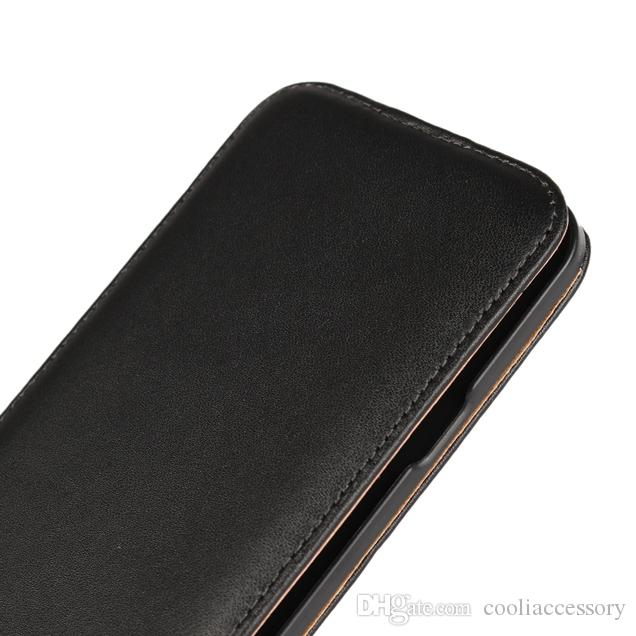Genuine Real Flip Leather Pouch Case For Sony Ericsson Xperia XZ3 XA LG X Cam Bag Vertical Black Smooth Cell phone Skin Cover Luxury