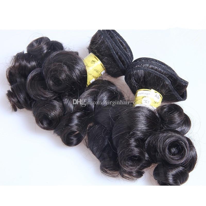 9A Schönheit Tante Funmi Haar Bouncy Curls Unverarbeitete Peruanische Jungfrau Haar Fumi Haar Bundles Nigerian spinnt Romance Curl Remy Haarverlängerungen
