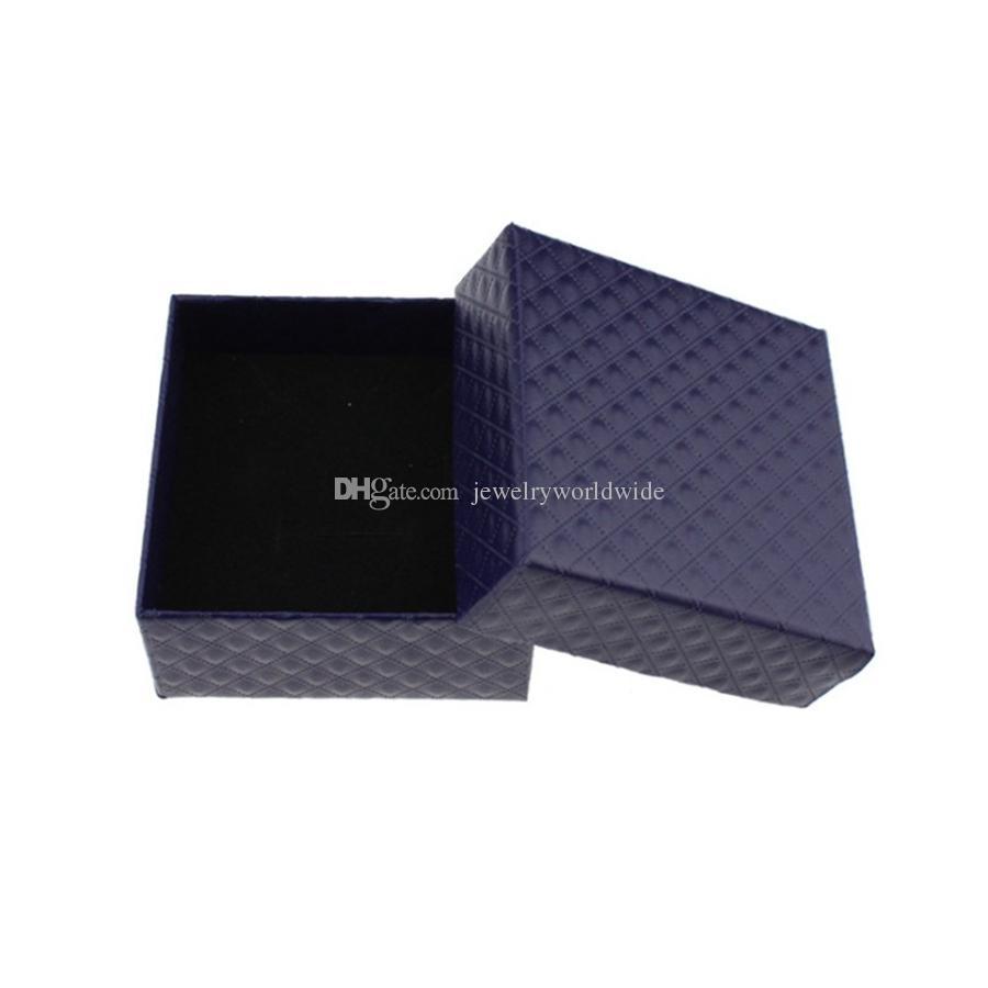 Contenitore di gioielli Diamante collana orecchini anello pendente Imballaggio di gioielli e display 7.3x7.3x3.5cm