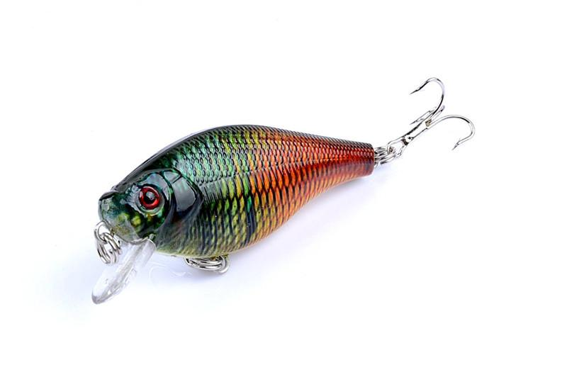 Bright Color PS Painted Laser Crank bait Rattlin lure 6.5cm 8.3g Freshwater Fishing crap simulation Fish hooks