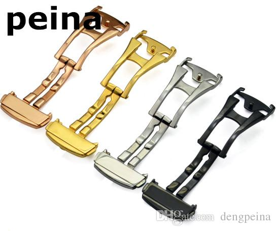 18mm 20mm NEUE Edelstahl Watch Bands Implementierung Verschlussfassung Strap Schnalle Männer Frauen Sport Herrenuhren Strap Band für Omega Uhr